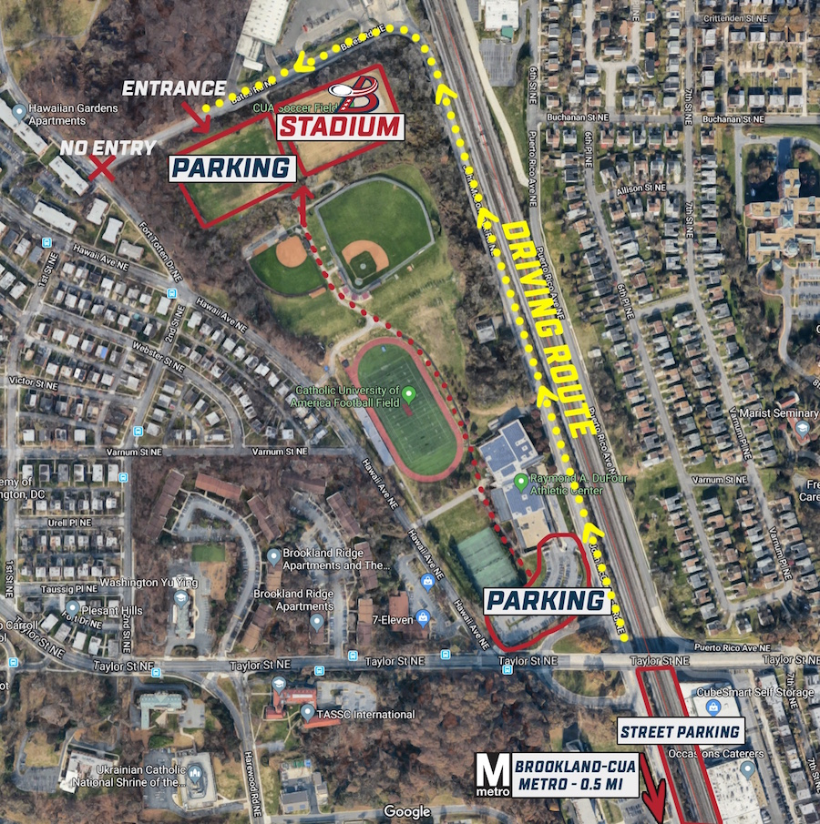 Carlini Field Access/Parking Map